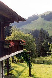 View from the chalet balcony
